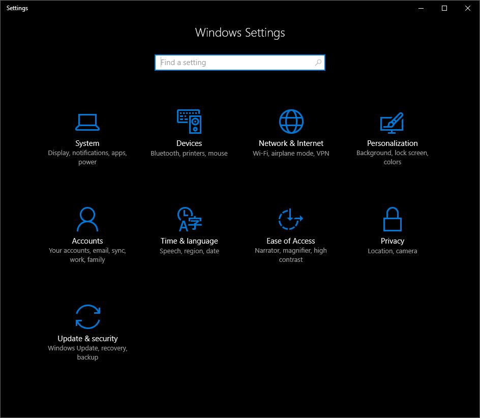 Edge browser Settings